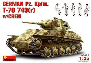 GERMAN  Pz. Kpfw. T-70 743(r) wCREW