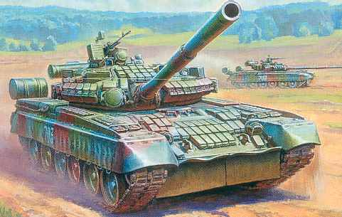 T-80BV Russian Main Battle Tank with ERA