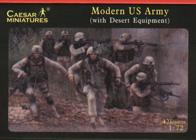 MODER US ARMY WITH DESERT EQUIPMENT.