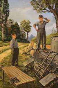 German tank repairmen (1940-1945)