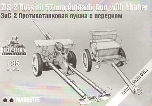 Russian 57mm Anti Tank Gun with Limber