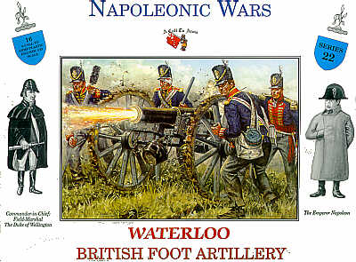 WATERLOO BRITISH FOOT ARTILLERY