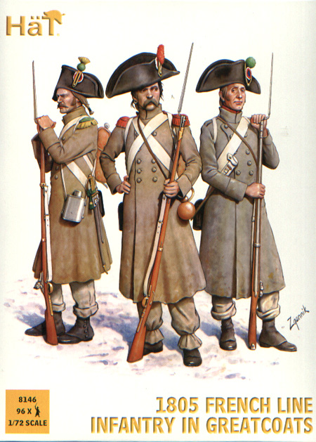 1805 French Line Infantry in Greatcoats