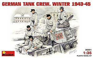 GERMAN TANK CREW.  WINTER 1943-45.