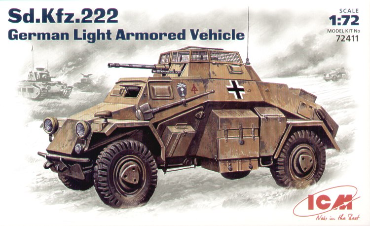 Sd.Kfz.222 WWII German light armored vehicle