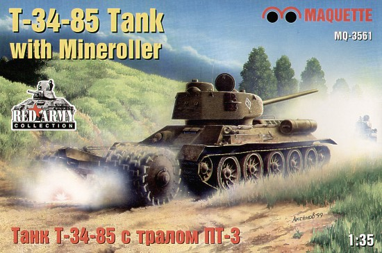 T-34-85 Tank with Mineroller