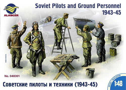 SOVIET PILOTS AND GROUND PERSONELL